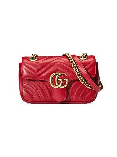 Luxury Fashion | Gucci Dames 446744DTDIT6433 Rood Leer Schoudertassen | Lente-zomer 20