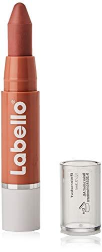 Labello Lips2Kiss Color Lip Balm Rosy Nude im 1er Pack (1 x 3g), Lippenpflege mit intensiver Farbe, Lippenstift mit echter Labello Pflege, nude