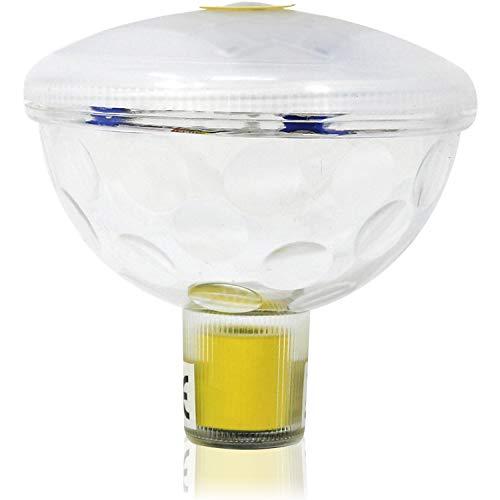 com-four® LED Lampe für Bad, Pool und Spa - Schwimmende Teich-Beleuchtung für eine mehrfarbige Unterwasser-Licht-Show - wasserdichte Pool-Lampe (01 Stück - LED-Lampe)
