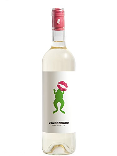 Vino Blanco Semidulce DON CONDADO - D.O. Condado de Huelva - Variedad Zalema 100% - 2 botellas de 0,75 CL