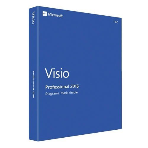 MS Visio Professional 2016 Win Medialess English (EN)
