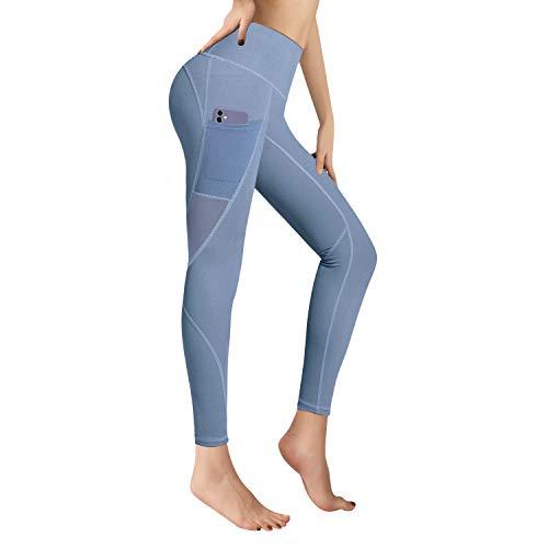 RaMokey Leggings Mujer Mallas de Deporte de Mujer Cintura Alta con Bolsillos...