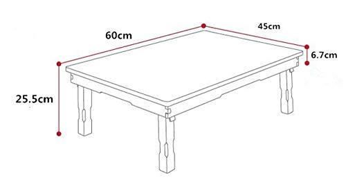 Eettafel LKU Kleine rechthoekige eettafel opvouwbare tafelpoten woonkamer salontafel traditionele antieke meubelen, 60x45x25.5cm