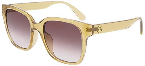 Gucci Occhiali da sole GG0715SA 003 occhiali Donna colore Giallo lente marrone taglia 53 mm