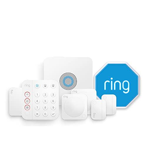 Nuevo kit de 8 piezas Ring Alarm de Amazon (2.ª generación) con sirena para exteriores: sistema de seguridad para el hogar con vigilancia asistida opcional, sin compromisos a largo plazo