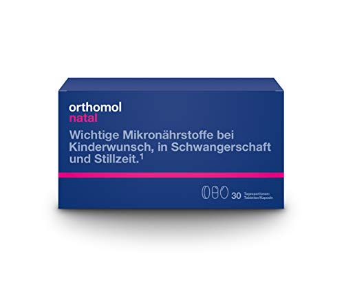 Orthomol natal 30er Tabletten & Kapseln - Folsäure Kombi für Frauen mit Kinderwunsch, in der Schwangerschaft & Stillzeit