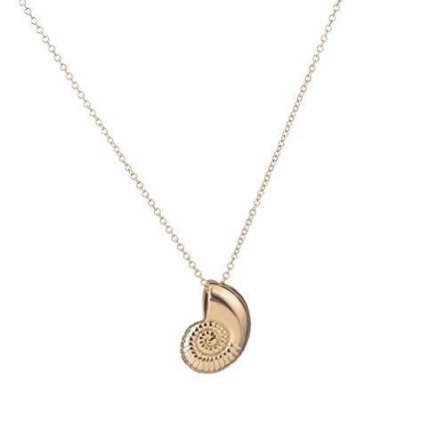 Toporchid En-Muschel, Schnecke, Muschelanhänger Mit Halskette (Gold