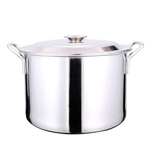 Utensilios de cocina al vapor Pottiquí, Catering comercial/doméstico de acero inoxidable de acero inoxidable con tapa para estufa de gas/cocina de inducción (9-110L) Charola para hornear