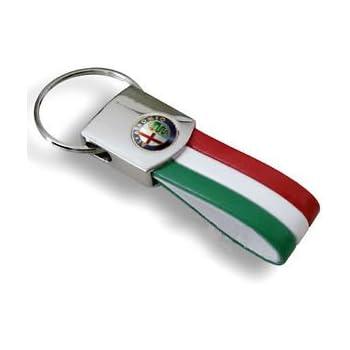 Portachiavi Lollomoto Bandiera Italia Tricolore Per Alfa MITO GIULIETTA 159 147 156 GTV GT BRERA SPIDER 166