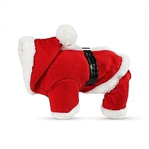 KayMayn Pet Sport Dog Sweat à Capuche pour Animal Domestique Chiot Chat Chemise Manteau Vêtements de Noël Costume Père Noël Sweat à Capuche Pull Costumes Grande et Petite Taille (s au XXL)
