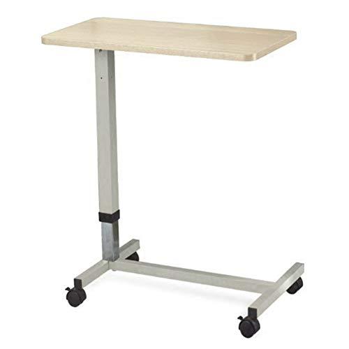 AI LI WEI levend kantoor/eenvoudige opbergtafel laptop staander voor bureau draagbare nachtkastje extra station in hoogte verstelbare riem leren lezen, houten kleur (grootte: 76,8 x 38,2 cm)