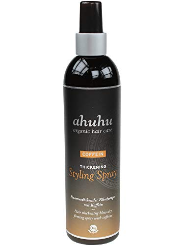 ahuhu organic hair care Coffein Styling Spray 300ml - Fönfestiger mit Coffein und Reisstärke