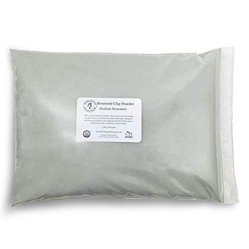 Bentonite Clay Powder Bulk 5 lb Pounds Cosmetic for Face, Hair, Body, Mask, Acne, Mud Bath, DIY Soap Making, Deodorant, Indian Healing by Bare Essentials Living