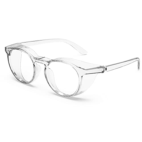 TOREGE Safety Glasses, Anti Fog Safety Glasses with Eye Protection Clear Lens Stylish Blue Light Blocking Glasses Light And Comfortable,Protective Eyewear Glasses For Nurses(Transparent)