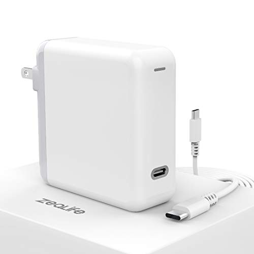 61W USB C Power Adapter, ZeaLife USB Type C PD Wall Charger Brick for Thunderbolt 3 Charger Port MacBook Pro 13 inch, MacBook Air Retina 13 inch, MacBook Retina 12 inch, iPad Pro 2018 and More