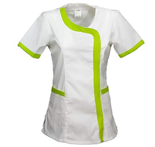 Fratelli ditalia camisa mujer esteticistas masajes OSS peluquería maestra escuela Asilo trabajo, verde, L