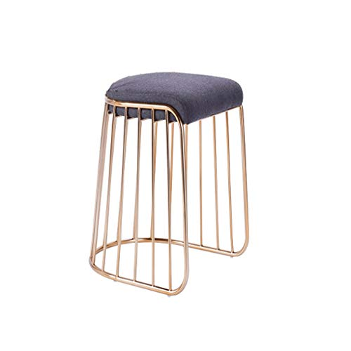 Barhocker Hausbar Dining Chair Zurück Hochhocker Startseite High-End-Rezeption Stuhl Barstuhl (Color : No backrest, Size : 45cm)