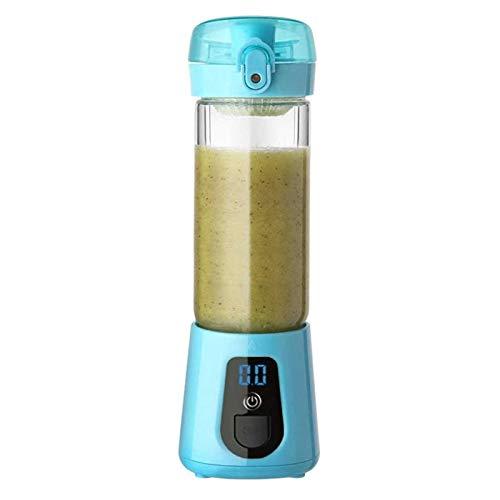 Adesign Batidora personal, taza de exprimidor portátil/mezclador eléctrico de fruta/licuadora de jugo USB, taza de jugo eléctrica inalámbrica apta para ejercicio en casa y oficina (color azul)