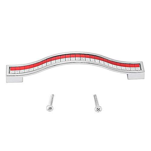 Gabinete de cajón de color opcional engrosado con manija de(Red plus silver, 128)