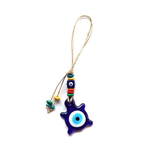 Llavero Fortunato Eye Cuckold Blue Evil Eye Keychain de encanto del soporte de llave de la cadena de la cuerda del anillo llavero de la pared de la joyería unida a mujer hombre (color: azul)