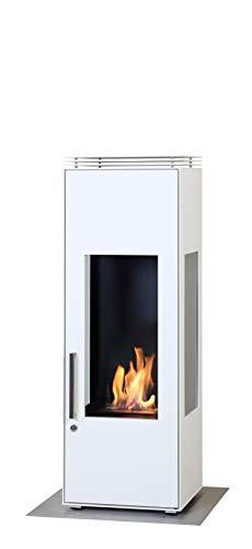Muenkel Design Empire [gesloten ethanolhaard]: M - zuiver wit (warm) - met kinderbeveiliging/slot