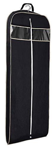 Misslo Kleidersack mit transparenter Tasche für Anzug, 152,4 cm, Schwarz, Schwarz , 152,4 cm