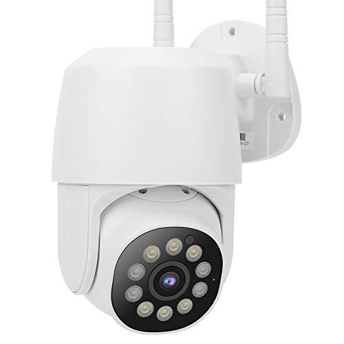 Cámara IP 1080P WiFi PTZ, cámara domo de 360 grados, cámara de seguridad panorámica, cámara de red para exteriores, con detección de movimiento y adaptador de corriente(EU)