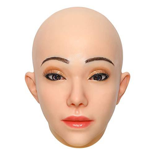 Transgender Soft Mask Silicone Head Gezichtsmasker Man-Vrouw Cosplay Kostuums Voor Crossdresser Drag Queen Shemale