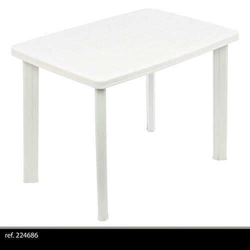 Greemotion 431020 Tavolo Faretto Ovale Giardino Esterno in Plastica, Bianco, 101x68x72 cm