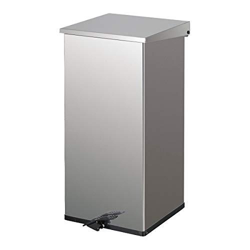 Collecteur de déchets à pédale, capacité 110 l, inox -