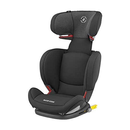 Maxi-Cosi RodiFix AirProtect Child Car Seat, ISOFIX Booster Seat, Extra Protection, 3.5 - 12 Years, 15-36 kg, Authentic Black
