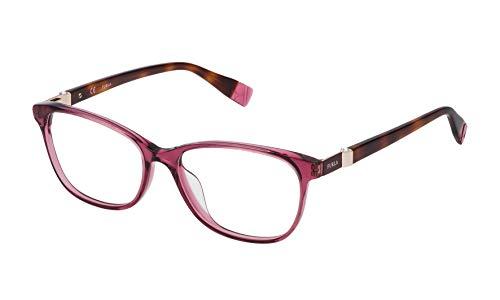 FURLA VFU090S53096D Occhiali, Shiny Transp.Antique Pink, 53/16/140 Donna