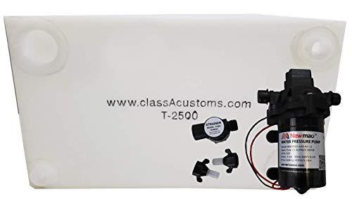 Class A Customs | 25 Gallon RV Concession Fresh Water Tank with 12 Volt Water Pump | T-2500-PUMP