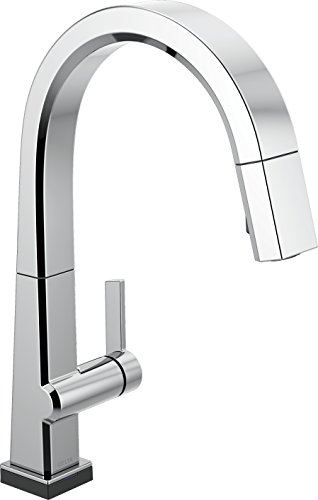 Delta Faucet Pivotal Single-Handle Touch Kitchen Sink Faucet with Pull Down Sprayer, Touch2O Technology and Magnetic Docking Spray Head, Chrome 9193T-DST
