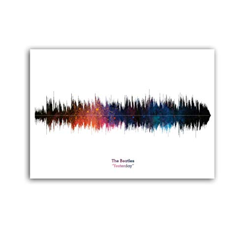 LAB NO 4 The Beatles Band Yesterday Soundwave Music Poster in (11