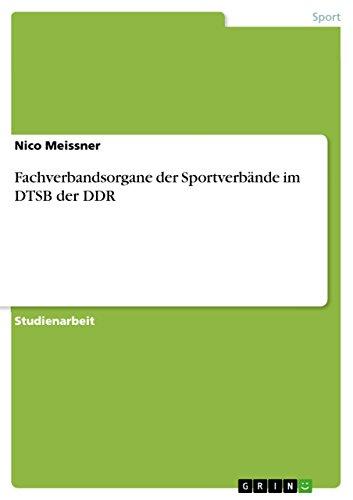Fachverbandsorgane der Sportverbände im DTSB der DDR
