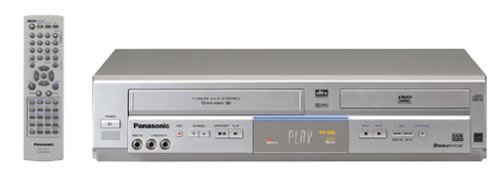 Great Deal! Remanufactured Panasonic PV-D4754S Progressive Scan DVD/VCR Combination Deck, Half-Mirro...