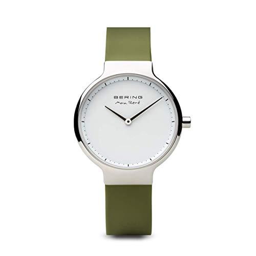 BERING Damen-Armbanduhr Analog Quarz Silikon 15531-800