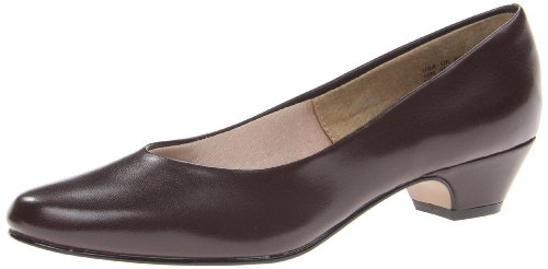 Hush Puppies Women's Angel II Dress Pump, Brown Smooth, 11 Wide US