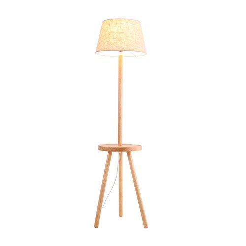 5151BuyWorld Moderne staande lamp met ronde tafel van eiken, stof, wit, schaduw, sofa, nachtkastje, woonkamer, eetkamer