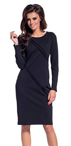 Lemoniade Damska sukienka zimowa / jesienna z długim rękawem (Made in EU) o eleganckim wzornictwie i w wielu kolorach