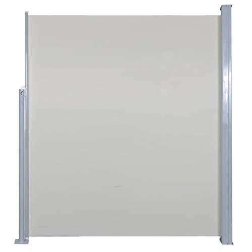 vidaXL Seitenmarkise 160x500cm Creme Sichtschutz Windschutz Sonnenschutz