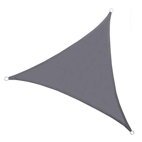 Sonnensegel Sonnensegel Tuch Regenfest Anti-UV Dreiecksfaser D-förmiger Zugring Party Carport, 4 Farben, 3 Größen (Farbe: Grau # B, Größe: 3X3X3m)