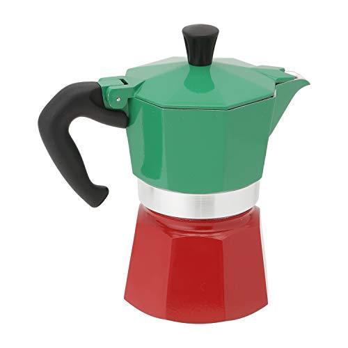 Bialetti 5322 Moka Express Espresso Maker, 3-Cup, Green/Red