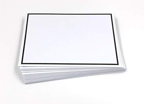 25 Trauerumschläge mit schwarzem Rahmen, C6 = 162 x 114 mm, schwarzes Seidenfutter