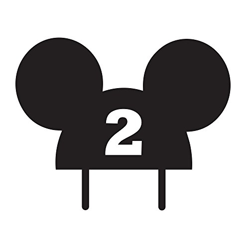 Mickey Mouse 2nd year Cake Topper by Acrylic Art Design