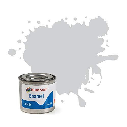 Humbrol 14ml No. 1 Dose mit Emaille-Farbe 147 Hellgrau matt