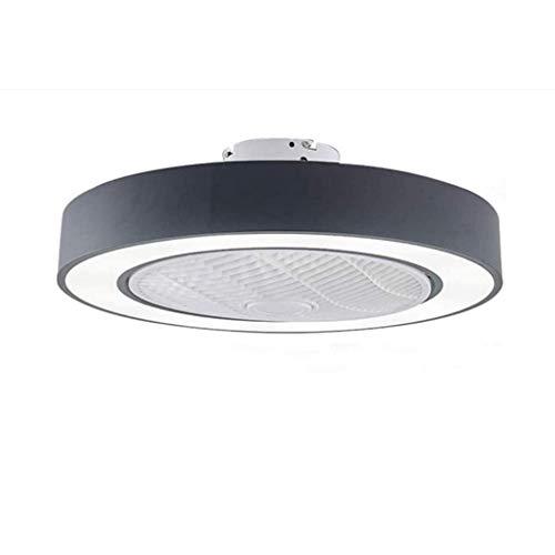 HGW Ventilador de Techo Moderna lámpara con Luces LED 36W con Control Remoto Tres Regulable en Color Habitación Sala Estudio Decoración Colgante de la Linterna,Negro
