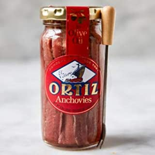 Ortiz Anchovies (Anchoas), 3.5-Ounce Jars (Pack of 3)