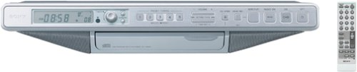 Sony ICF-CD553RM Under Cabinet Kitchen CD Clock Radio (Silver) (Discontinued by Manufacturer)